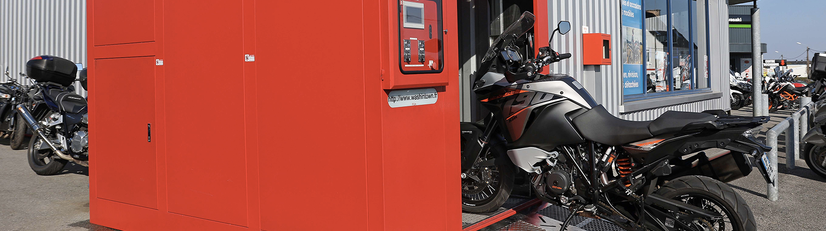 Washintown lavage automatique pour motos et scooters - Prix lavage couette laverie automatique ...