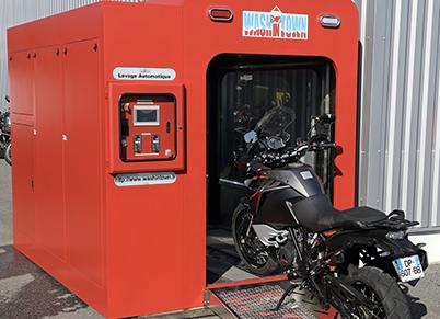 washintown lavage automatique pour motos et scooters. Black Bedroom Furniture Sets. Home Design Ideas